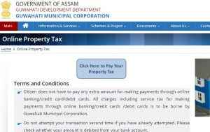 Guwahati Property Tax Online Payment