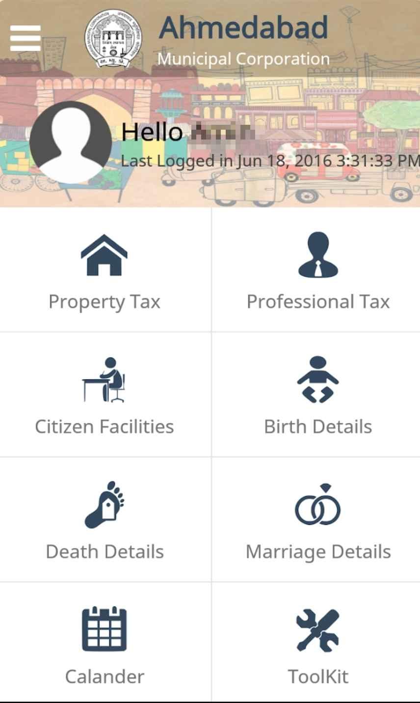 Mobile App - AMC Property Tax Payment - Online