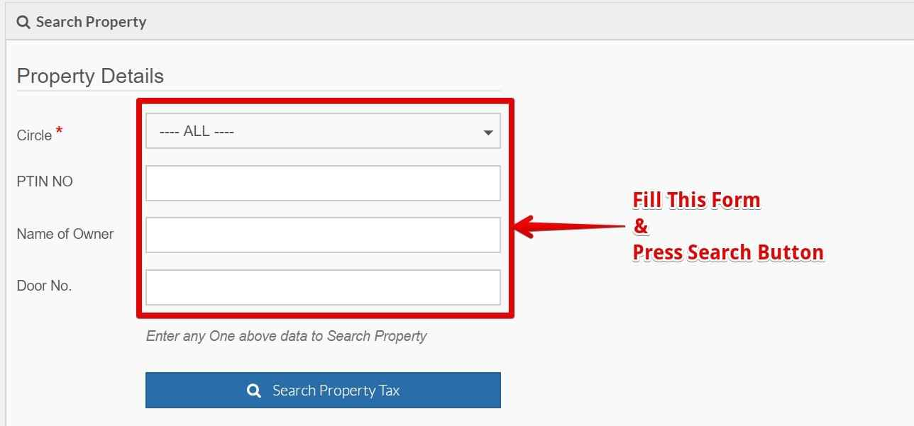 GHMC SEARCH YOUR PROPERTY