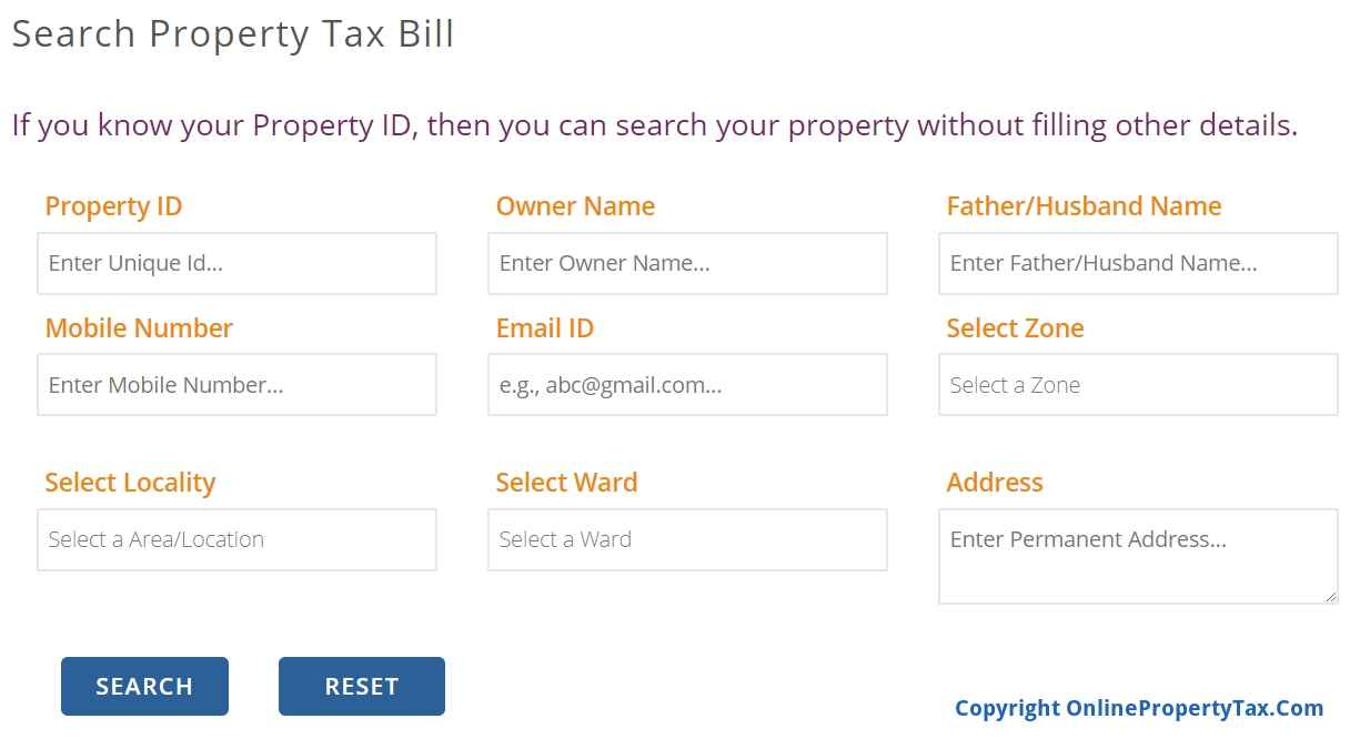 PANIPAT SEARCH YOUR PROPERTY BILL