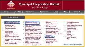 Official Website of Municipal Corporation Rohtak Property Tax Online Payment