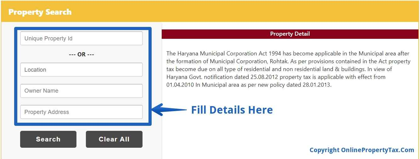 HOUSE/PROPERTY TAX PAYMENT ONLINE