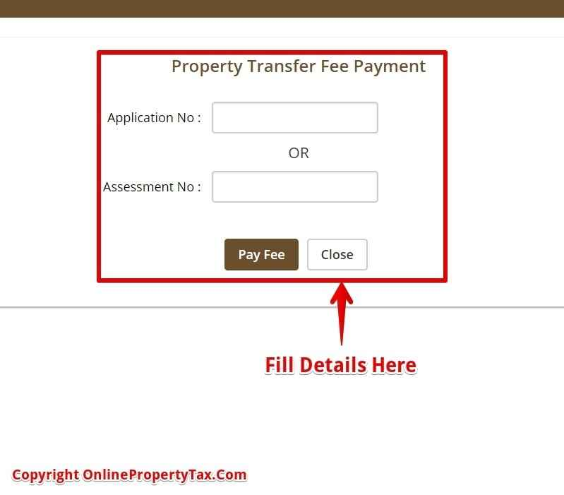 Property Transfer Fees Payment