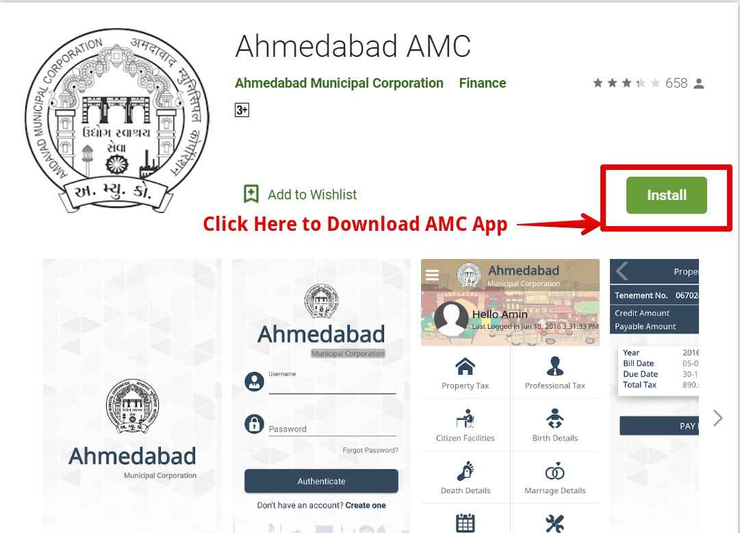 Mobile App for Property Tax Payment Ahmedabad AMC